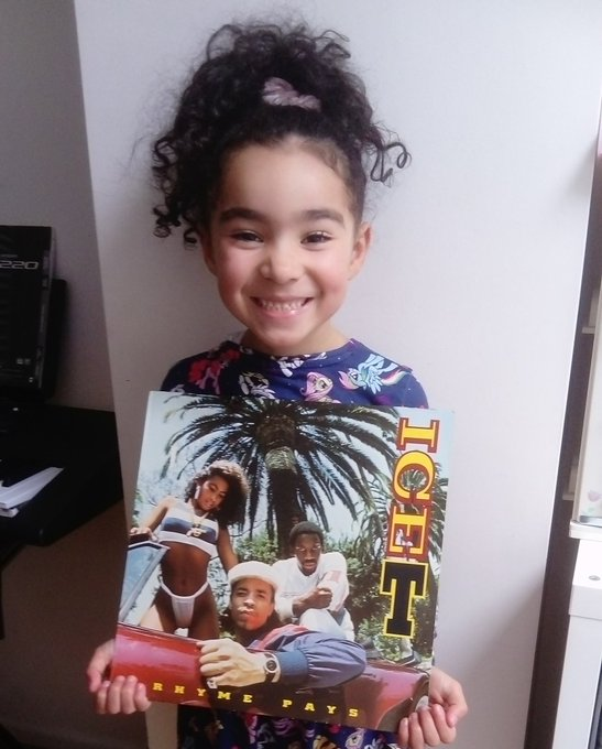 Happy 60th Bday to the OG Ice T... Absolute legend. My daughter rocking the Rhyme Pays classic.