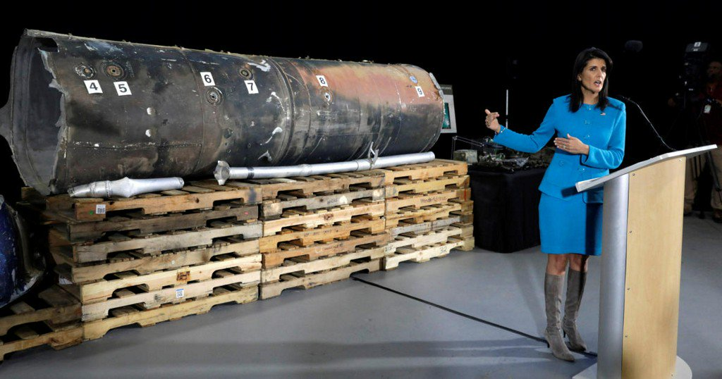 """U.S. ambassador Nikki Haley pushes United Nations for """"consequences"""" for Iran's """"behavior"""""""