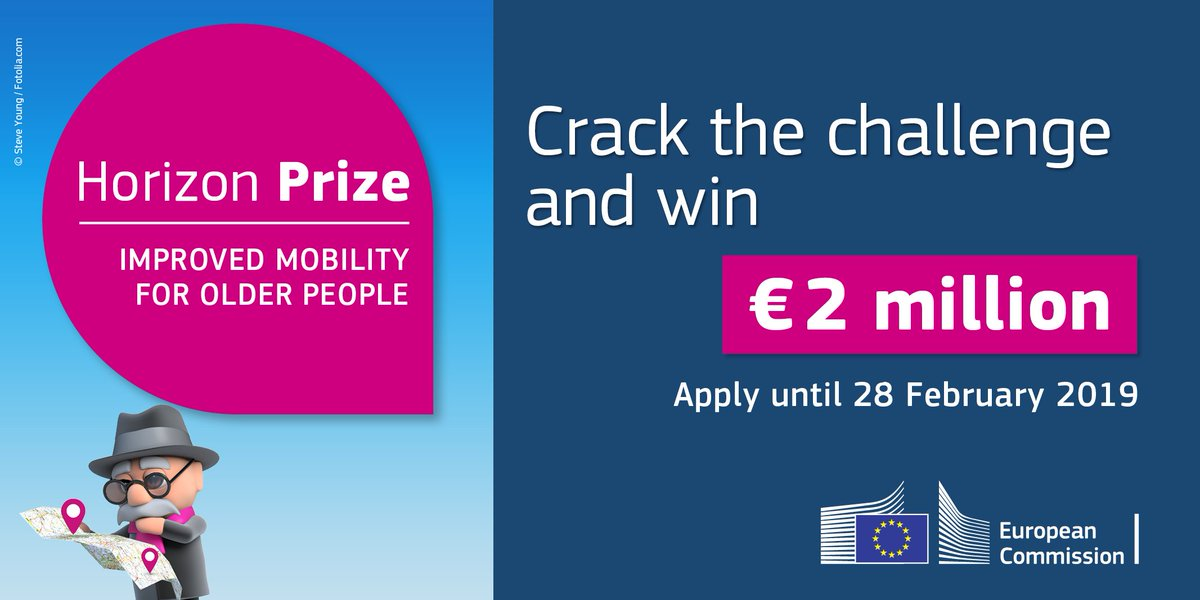 test Twitter Media - In 2020, there will be 75 million Europeans over the age of 65. Do you have a great solution to improve mobility for older people? https://t.co/V78iVRJdAf #HorizonPrize #Mobility4Ageing https://t.co/brrl6NsogF