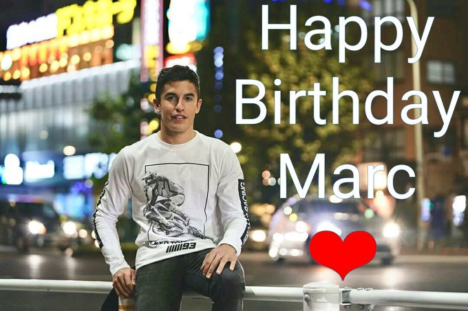 Happy Birthday Marc Márquez you are the best