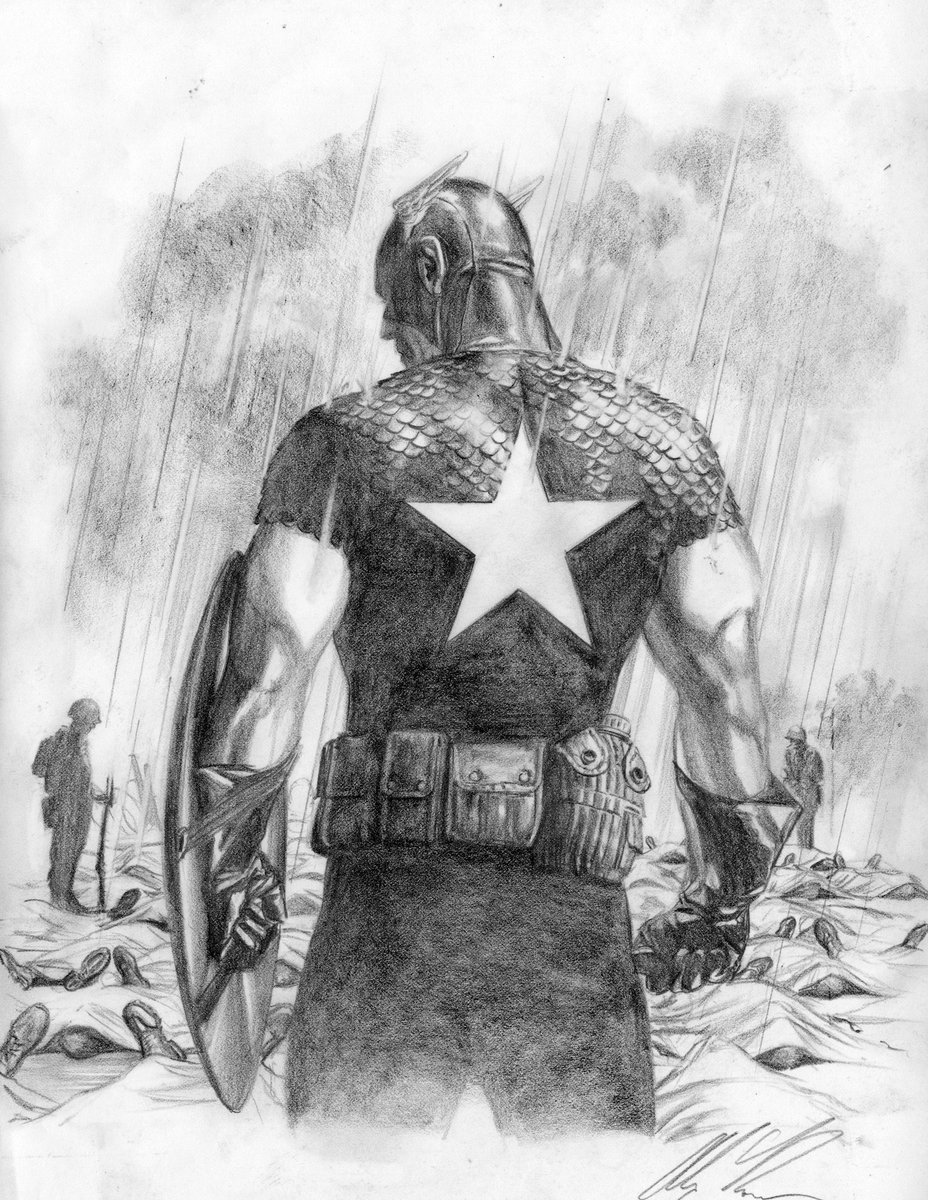 RT @thealexrossart: #SaturdayMorning #CaptainAmerica #MakeMineMarvel https://t.co/0THpa82IH2