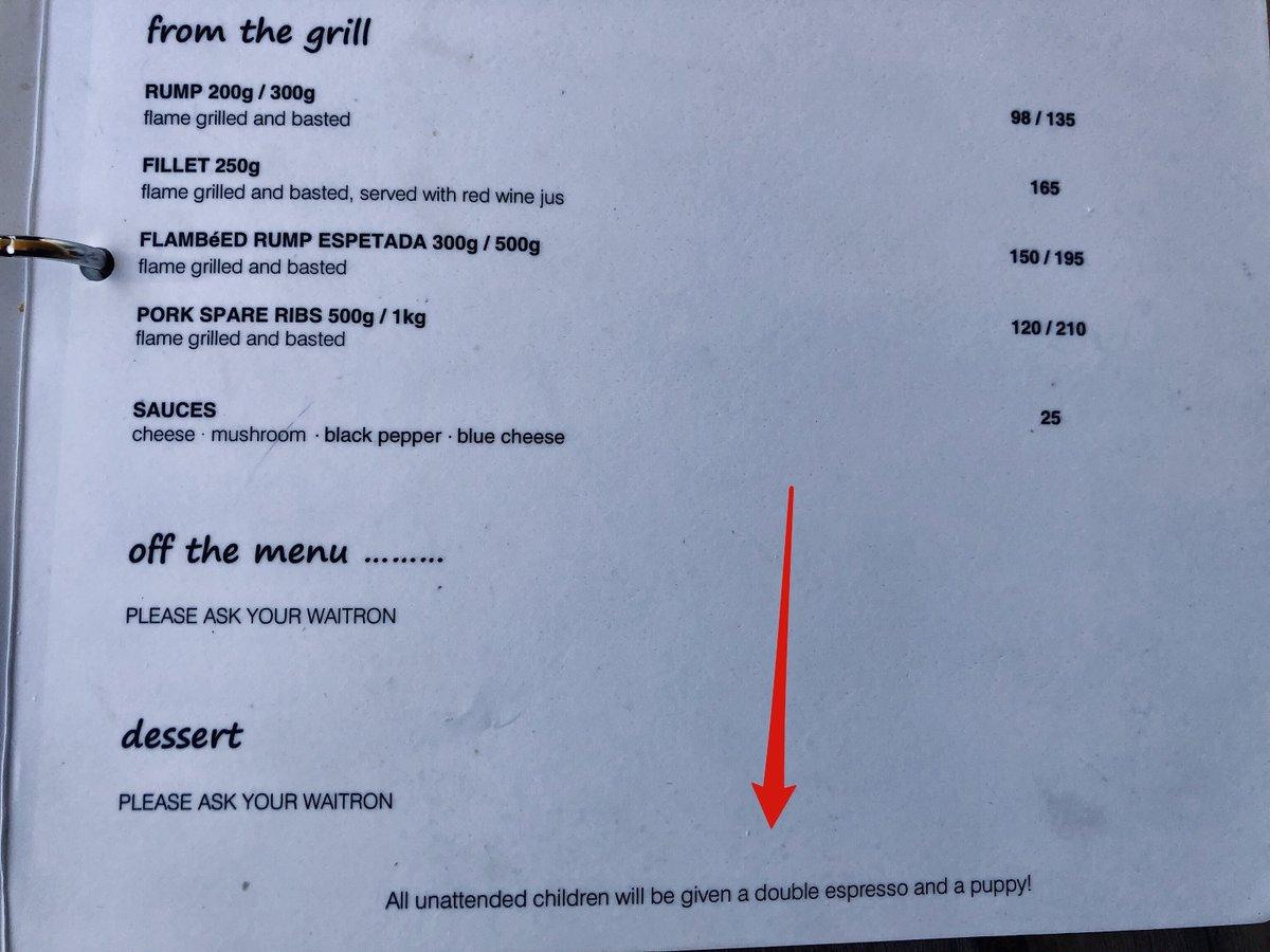 test Twitter Media - The Blue Moon restaurant in DeHoop has EXACTLY my sense of humour 👍🏼🤣 https://t.co/gxKEkM0dOO