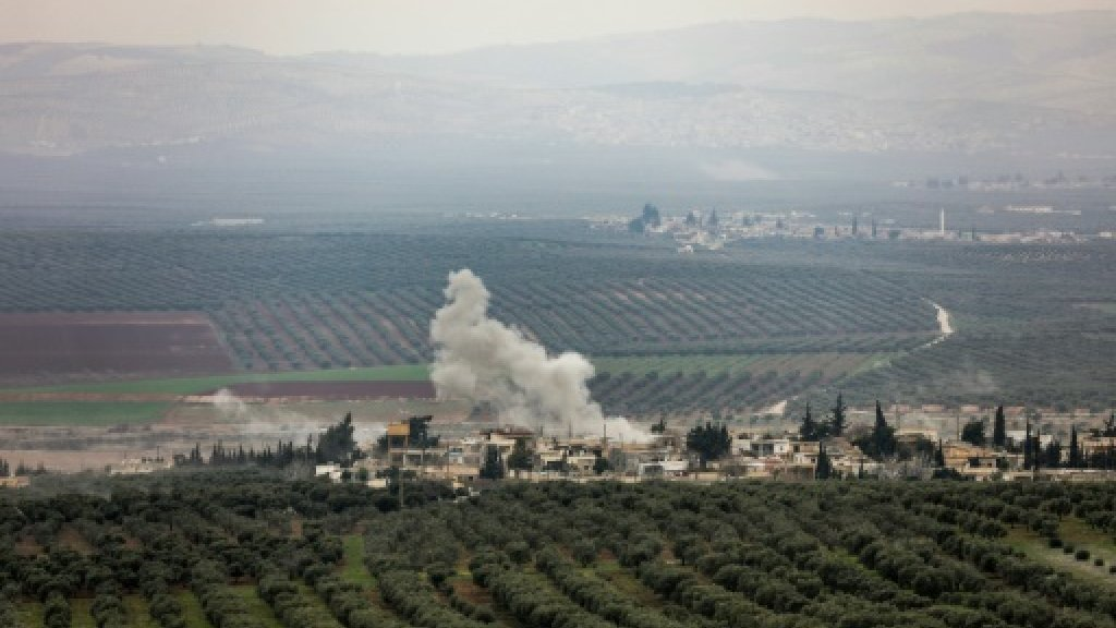 Six men suffer breathing difficulties after shelling on Syria's Afrin