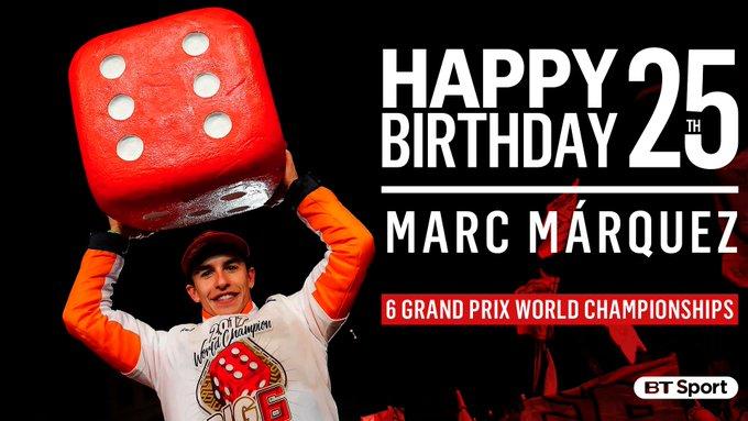 2010 2012 2013 2014 2016 2017 Happy 25th birthday to Mr. Marc Márquez