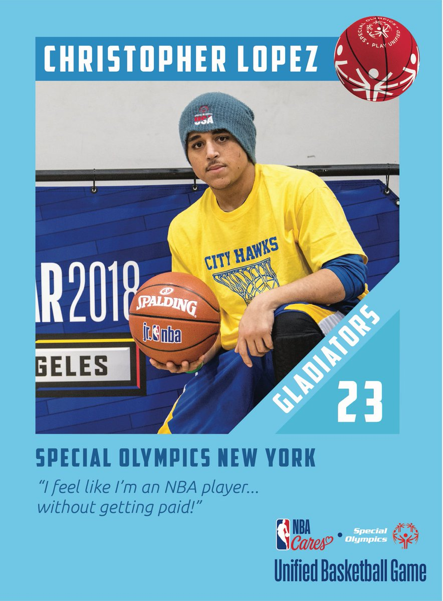 MUST WATCH - TODAY 12:30pm ET/9:30am PT. The @nbacares @specialolympics Unified Sports Basketball Game at #NBAAllStar will be streamed LIVE for the 1st time!  Tune in to see athletes from @SONYinfo @SpOlympicsMI & @soflinfo on TEAM GLADIATORS   Click here: https://t.co/D0ZAtJK25w https://t.co/iA7BuUGQY2