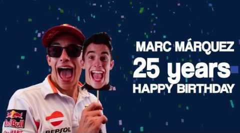 Video: Happy 25th birthday messages for Marc Marquez