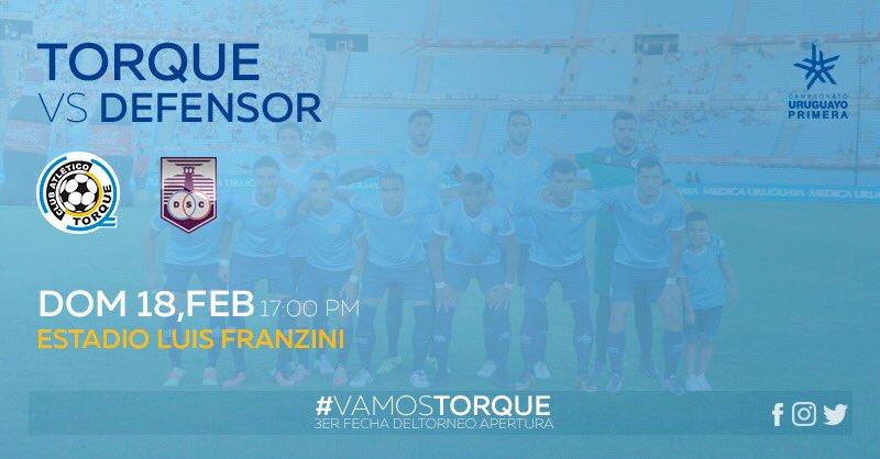 #Mañana   Por la #Fecha3 del @CampeonatoAUF visitaremos a @DefensorSp ‼️ #VamosTorque ⚪️�� https://t.co/CzmXx4feci