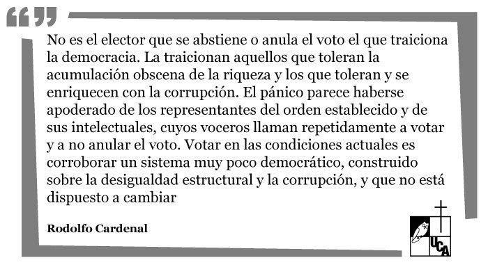 "RT @UCA_ES: Opinión: ""¿Votar? ¿Para qué?"", Rodolfo Cardenal https://t.co/uw4I8IcJyE || https://t.co/k0G7bv1Lyv"