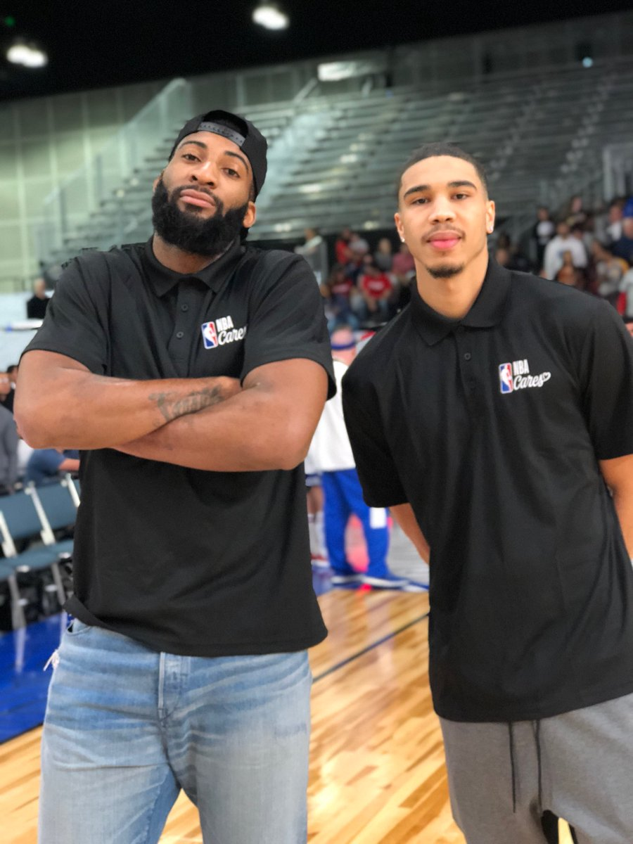 RT @NBA: Head coaches @AndreDrummond & @jaytatum0 are ready for game time! #PlayUnified @nbacares https://t.co/YHXwN3CxQg