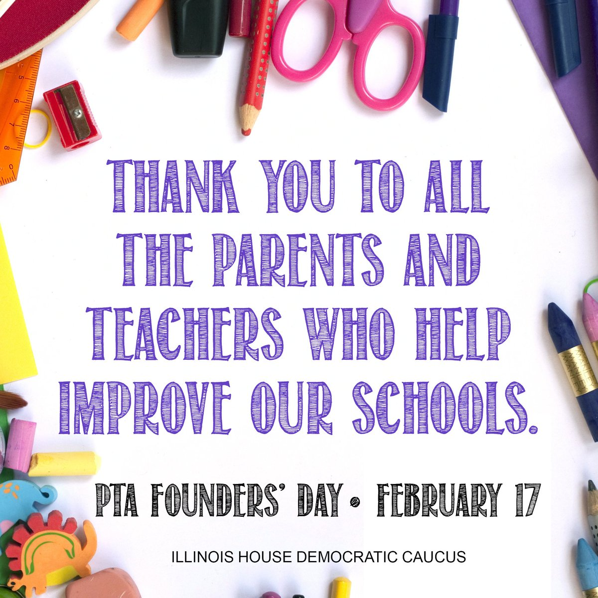 test Twitter Media - Thank you to all of the parents and teachers in our state who help make our schools a better place for all of our students to learn. #PTAFoundersDay https://t.co/msVfjiIhat