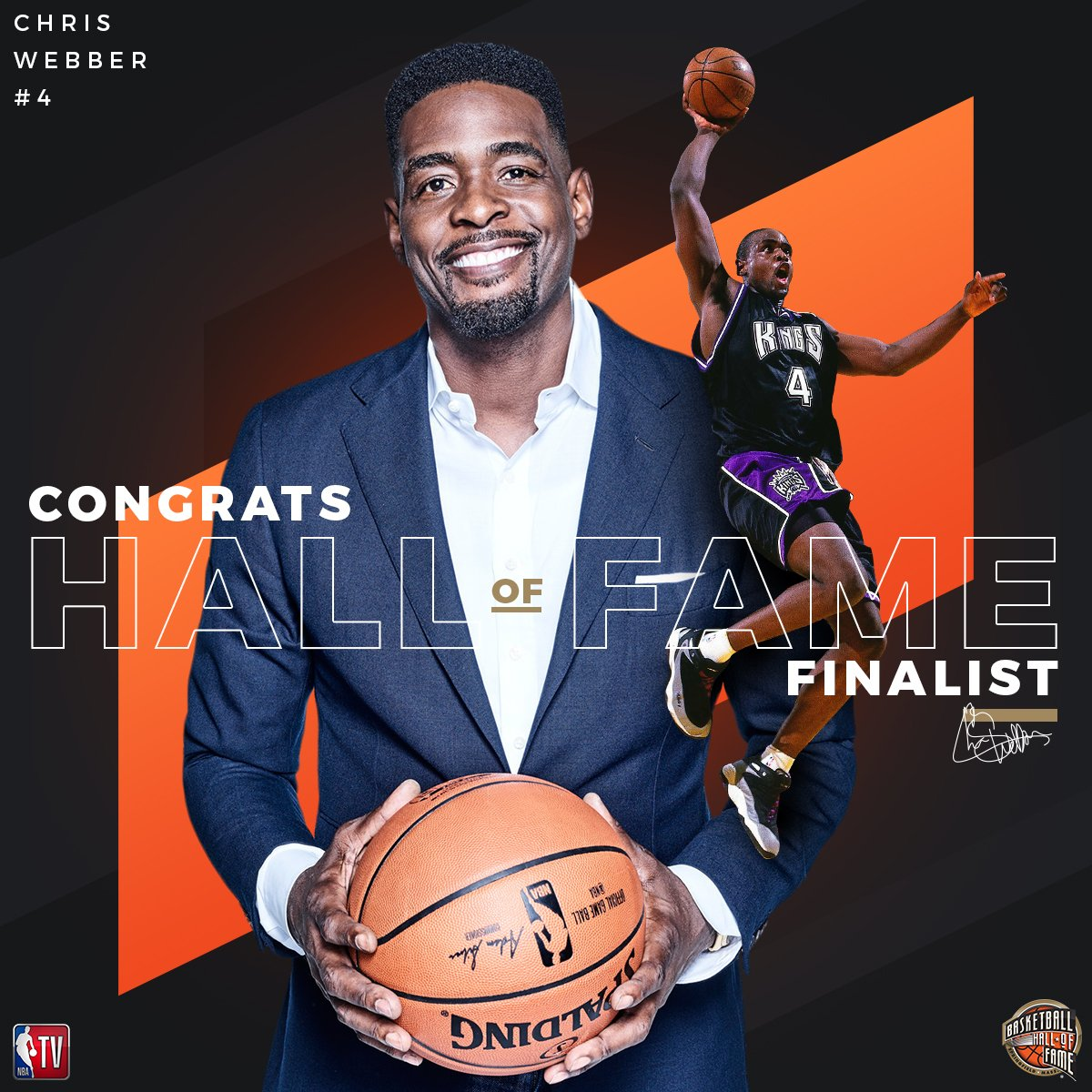 RT @NBATV: The Turner Sports family congratulates @realchriswebber on being named a @Hoophall #18HoopClass Finalist! https://t.co/ffG91JtQrP