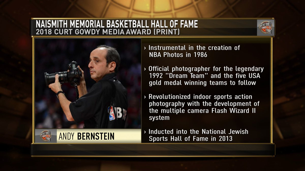 Congrats to superb @NBA photographer, Andrew D. Bernstein, recipient of the @Hoophall Curt Gowdy Print Media Award https://t.co/dzihHBXiDk