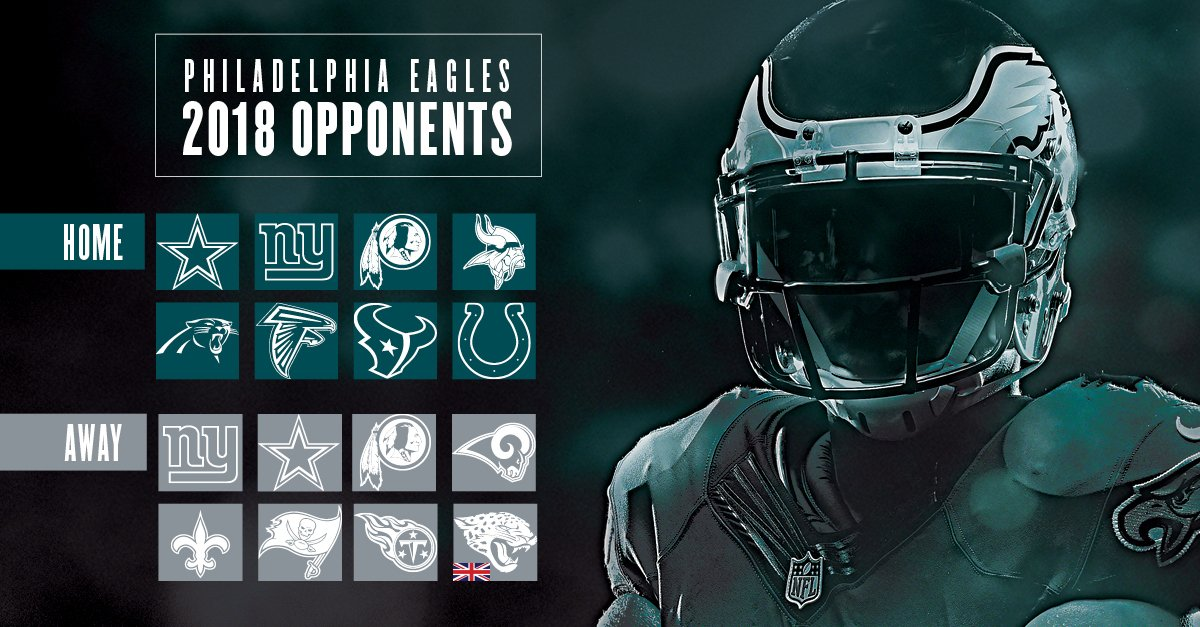 ICYMI: Take a look ahead to the #Eagles' opponents for the 2018 season.  #FlyEaglesFly https://t.co/smI7Mpdhju