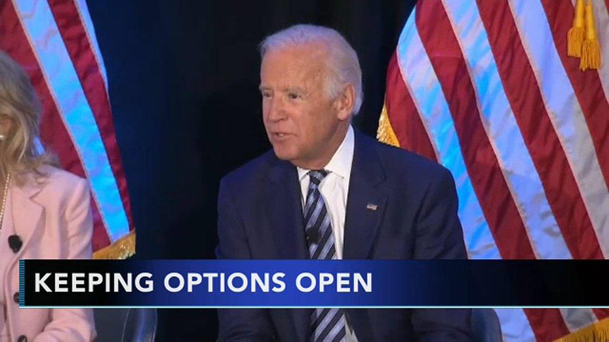 Former V.P. Joe Biden keeping options open for presidential run