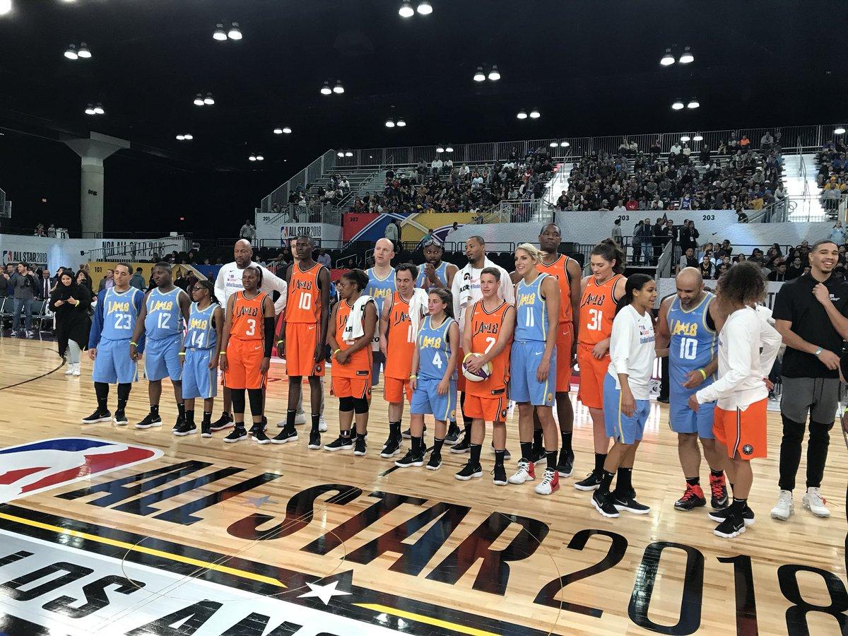 RT @De11eDonne: Favorite part of NBA allstar weekend! @SpecialOlympics unified game. #PlayUnified https://t.co/JXSdpHX11B
