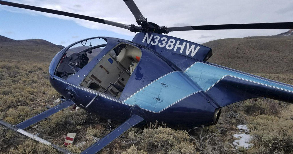 Elk dies after leaping into low-flying research helicopter in Utah https://t.co/dgxqz2PrQW https://t.co/s4fZlZlQ4r