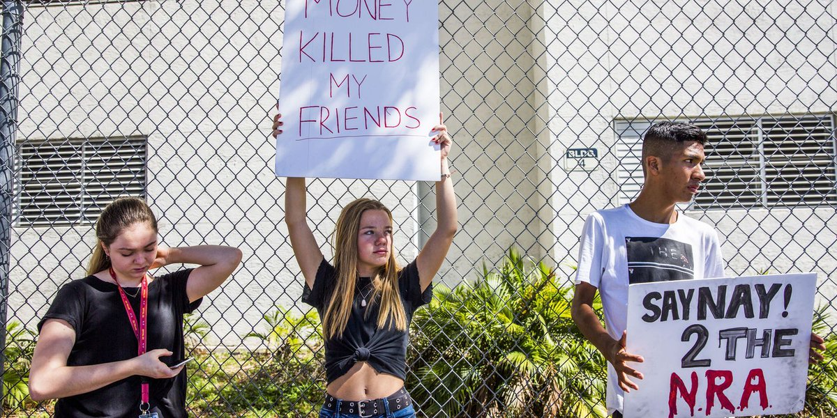 Students plan to walk out of schools to protest gun laws