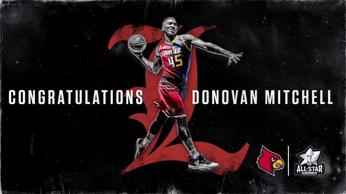 Congrats on winning the 2018 #NBAAllStar Dunk Contest, @spidadmitchell!  Way to represent The Ville! https://t.co/bzqINDuFIr