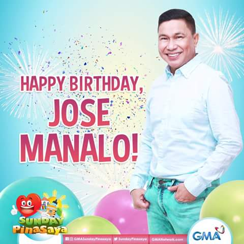 Happy birthday JOSE MANALO MigoOnDearUge KapusoBrigade