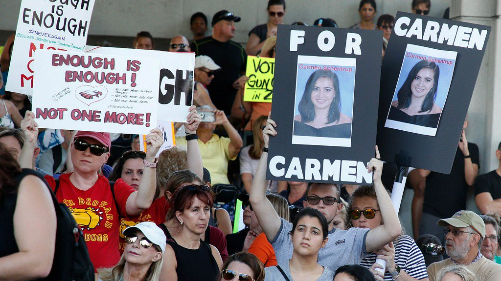 Students plan to walk out of schools to protest gun laws following Florida shooting