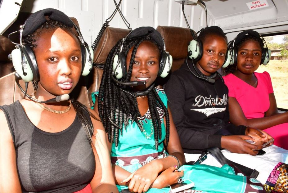 Kipchumba Murkomen trolled after treating students to 10-minutes chopper ride
