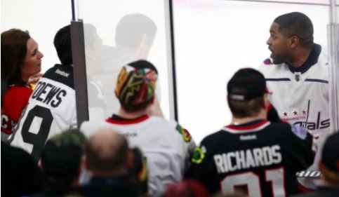 Black Hawks fans aim 'basketball' taunt at black NHLer in penalty box