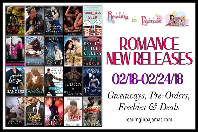 ROMANCE NewReleases 02/18-02/24/18 Giveaways PreOrders Freebies & Deals