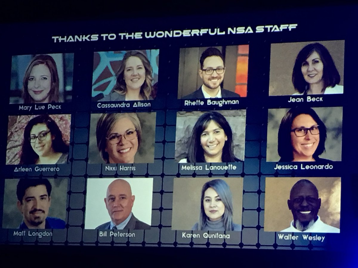 Many thanks to the NSA staff! #nsa18 https://t.co/VJTPwfQLuP
