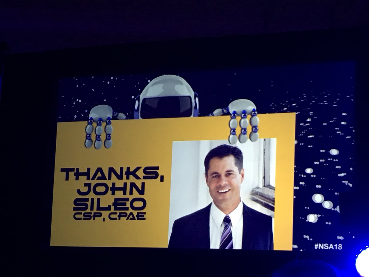 Kudos @john_sileo Your videos were an absolute hit at #nsa18  !!! https://t.co/wjKy7PvHyu
