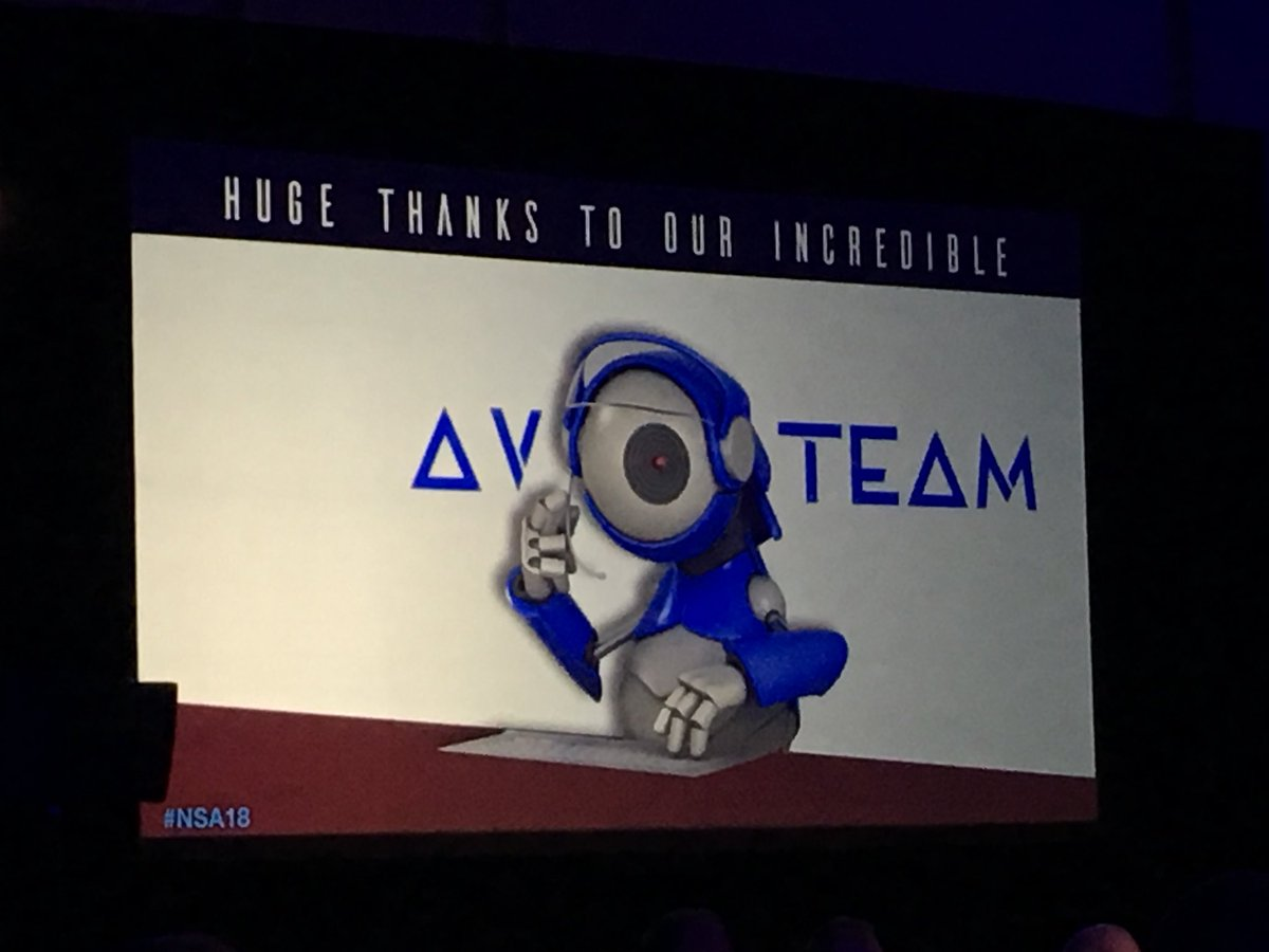 Many thanks to the AV team at #nsa18  SO MANY FILES to manage!! https://t.co/Mr9W3iMcBv