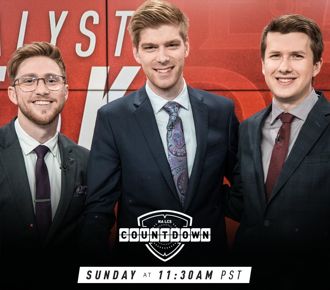 ICYMI: Today's #NALCS action kicks off 2 hours earlier!  11:30AM PST / 8:30PM CET:  NA LCS Countdown  12PM PST / 9PM CET:  @ClutchGaming vs. @TeamSoloMid https://t.co/Rb8z93B6iZ