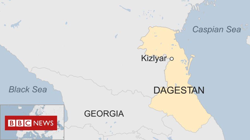 Dagestan church shooting leaves four dead in Kizlyar
