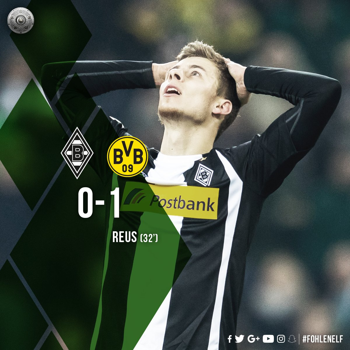 26... 26 shots... We're into cursed territory. The goals just won't come and it's another defeat 💔  #fohlenelf #BMGBVB 0-1 https://t.co/GMKG2empMc