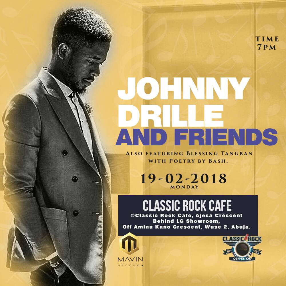 test Twitter Media - So @Johnnydrille is in abuja And would be joined on stage by @BlessingTangban and @BashAmuneni  #music #alternativemusic #Goodmusic https://t.co/ueUqtoME4P