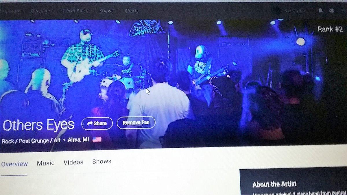test Twitter Media - #OtherEyesBand        #2 in #Rock /#Grunge/ #AlternativeMusic @ #CentralMichigan #AlmaMichigan on #Reverbnation . https://t.co/QNYydKAexH
