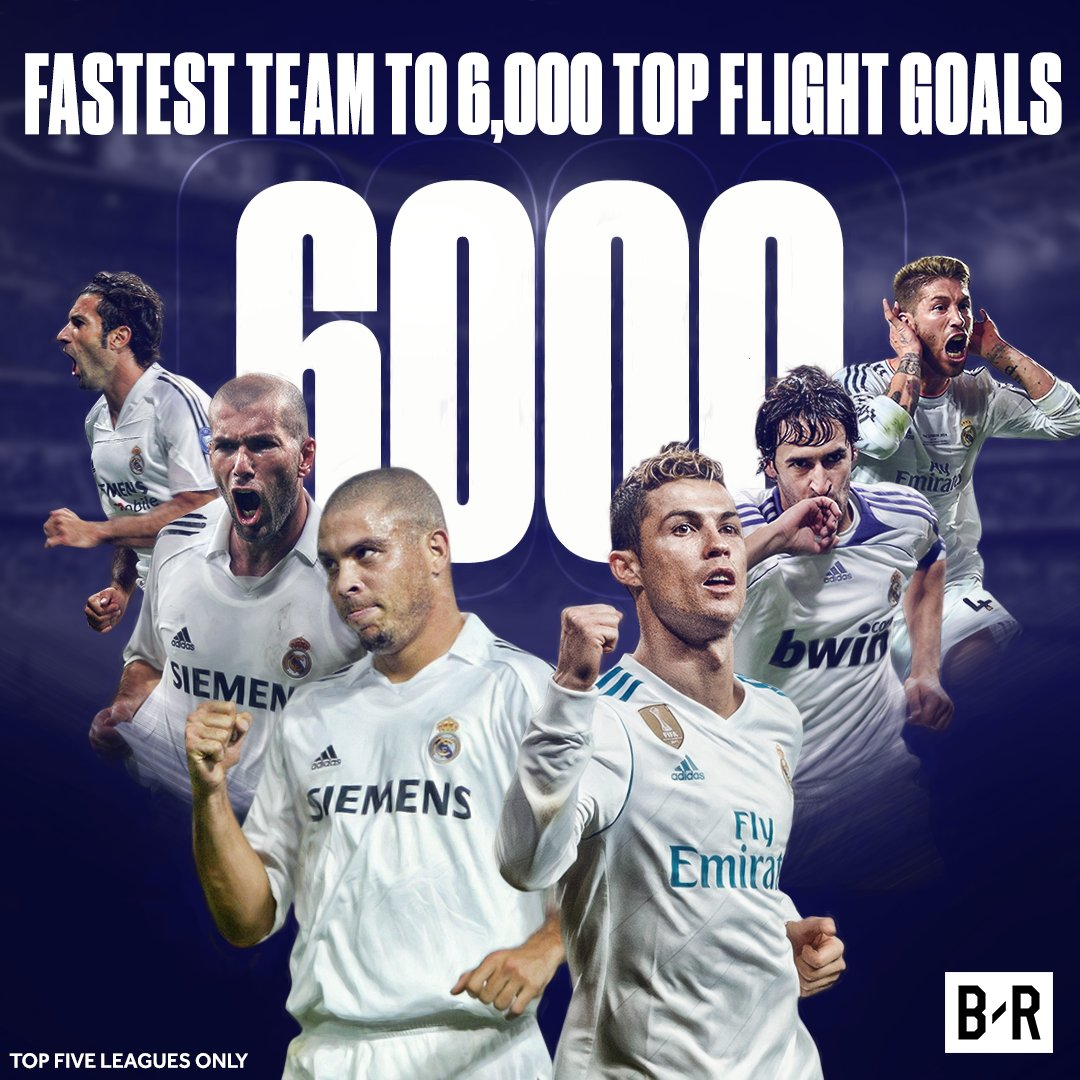 Real Madrid get to 6000 in rec madrid