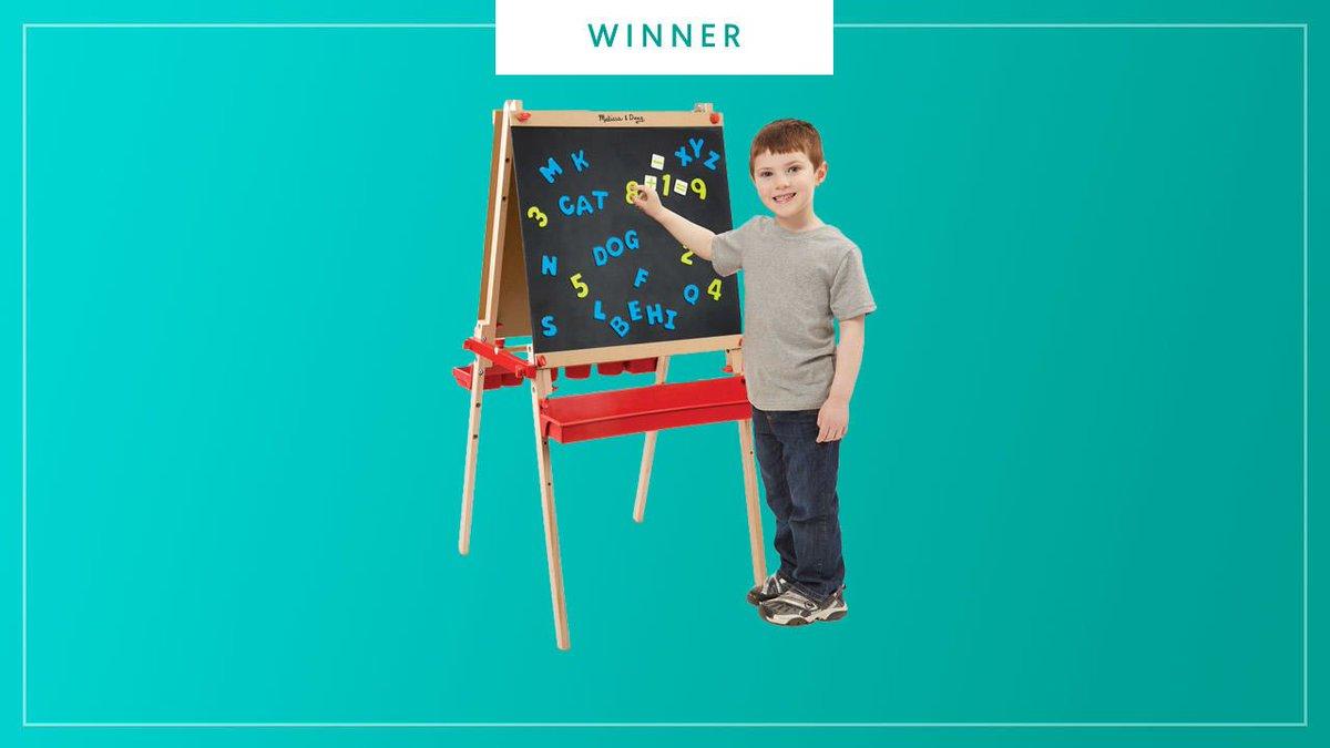 Best 3+ Toy: Melissa & Doug Deluxe Magnetic Standing Art Easel