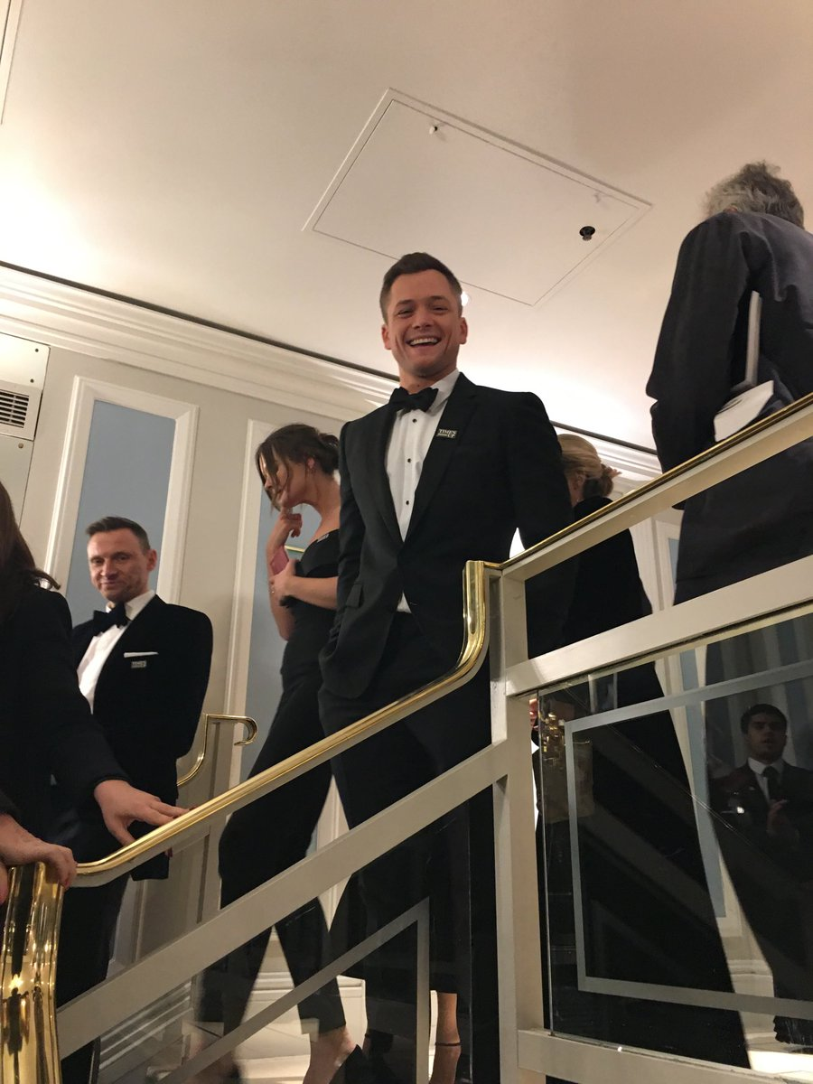 @TaronEgerton arriving @Grosve house party