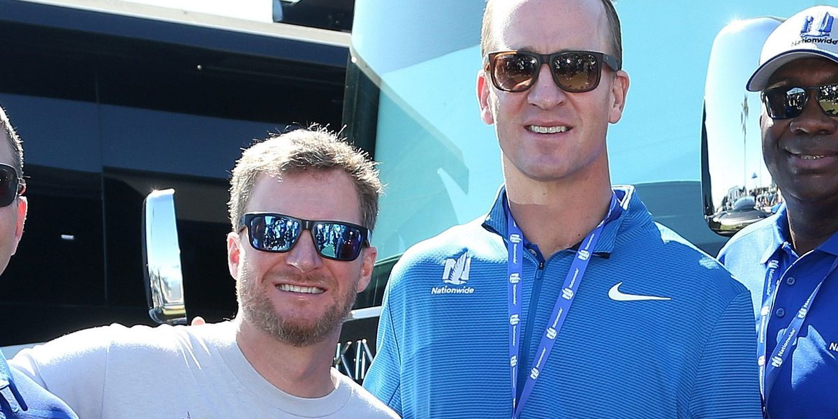 Dale Jr., Manning had starring roles in Daytona traditions