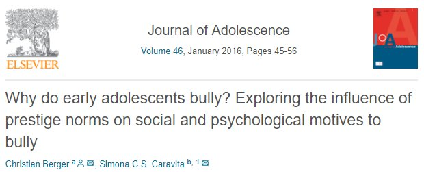 test Twitter Media - #Bullying is an important issue worldwide. It affects people of all ages, especially children during school years.  We suggest you to read this study that examines the psychological and social motives of this behaviour. #cyberbullying #awareness  https://t.co/4cKic3kPoo https://t.co/epBf1rq373