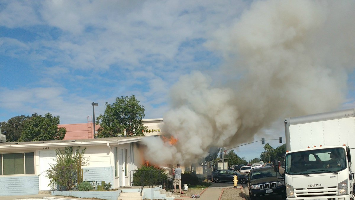 Crews knock down house fire in Clairemont