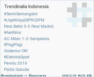 Trend Alert: #SeninSemangatin. More trends at https://t.co/OMCuQPRWwL #trndnl https://t.co/pLaZagXyWe