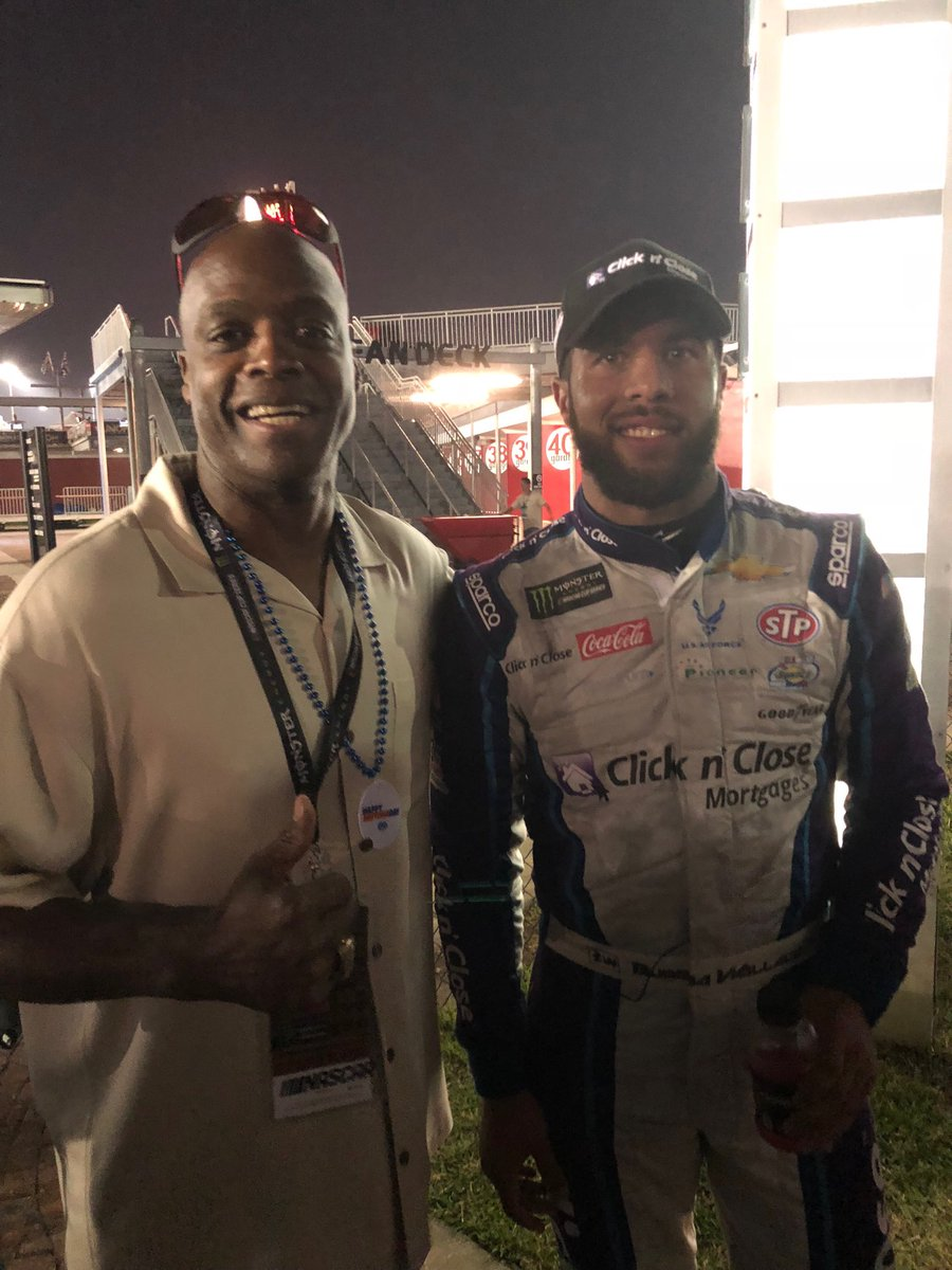 "Hanging out with my name sake Darrell ""Bubba"" Wallace talking about how I use to @ClicknClose the deal real fast! Keep your eye on the guy America @BubbaWallace https://t.co/DXjNZozqyN"