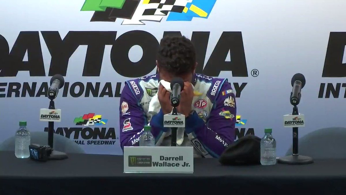 RT @NASCAR: The emotions came pouring out after a P2 finish for @BubbaWallace.  #DAYTONA500 https://t.co/QspZyBm0TM
