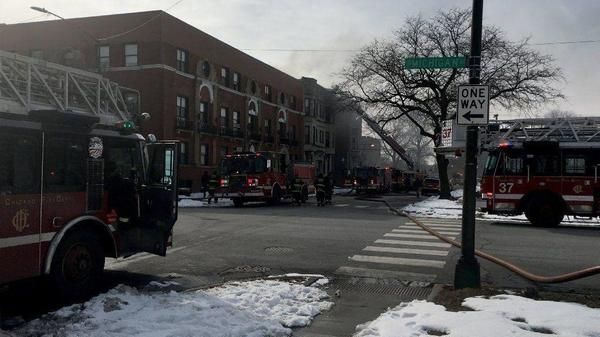 10 displaced by 2 separate Chicago fires