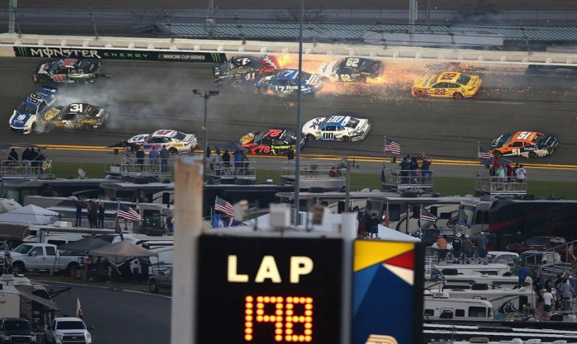Stage racing, aggressive blocking lead to trio of big wrecks in Daytona 500