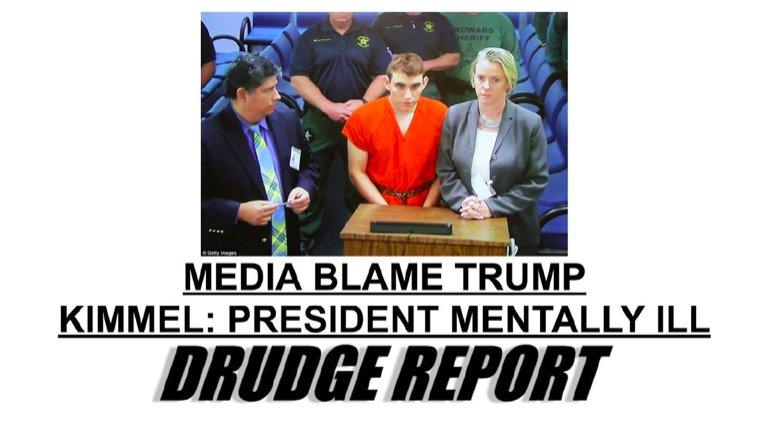 Media haranguing people about  drudge