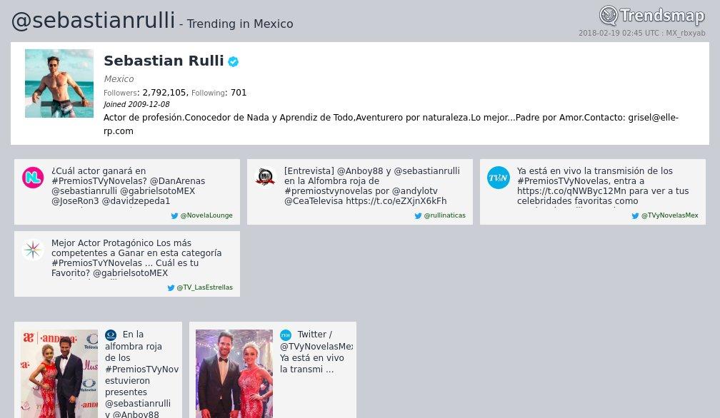RT @TrendsMexico: Sebastian Rulli, @sebastianrulli es ahora una tendencia en Mexico  https://t.co/Wbgv0voEPn https://t.co/yLDJ535Qcn