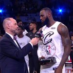 RT : #LeBronJames talks after being presented...