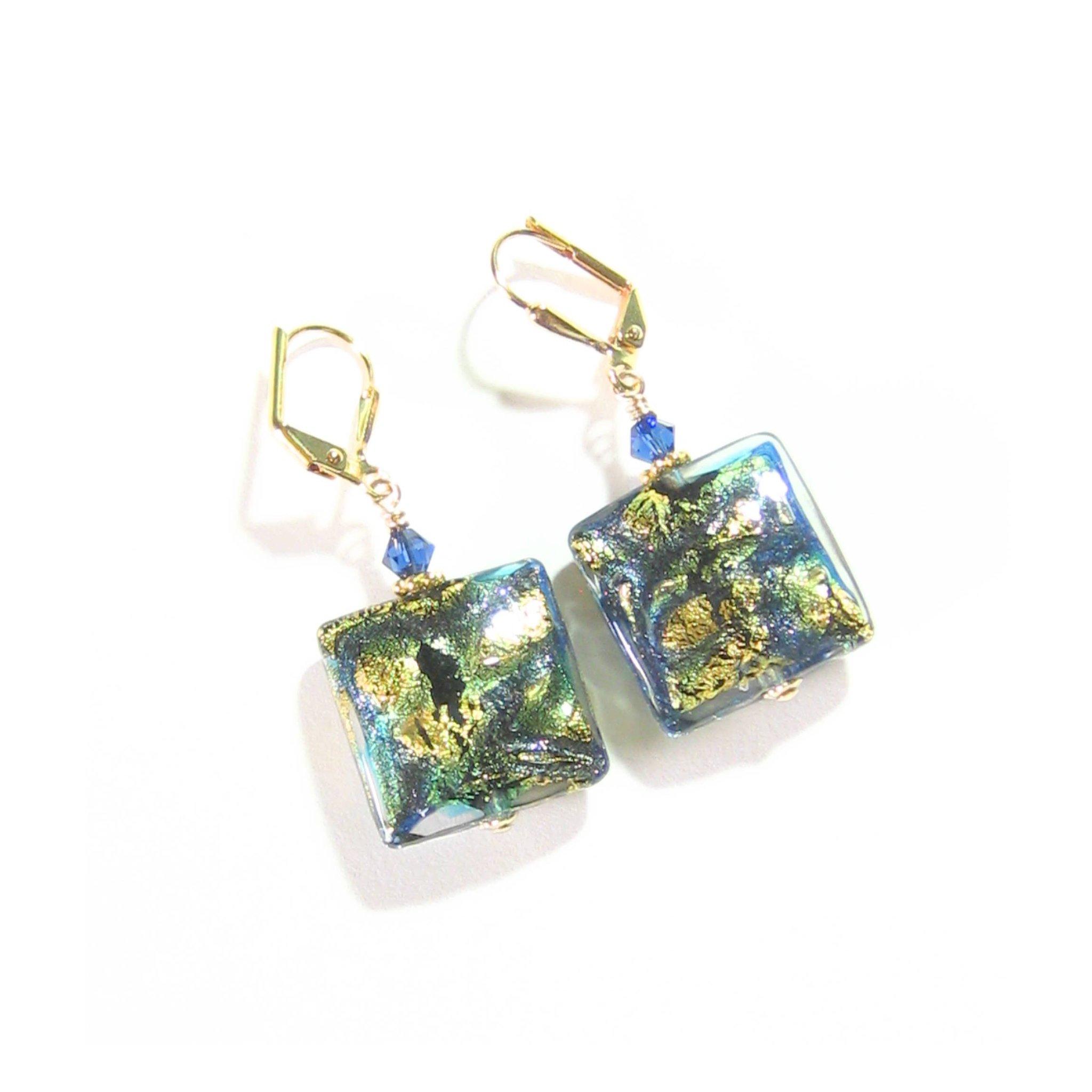 Murano Glass Cobalt Blue Green Chunky Square Gold Earrings, Artisan G… https://t.co/j3fQToSoNn #Etsymntt #epiconetsy https://t.co/zOaNR2IWfS